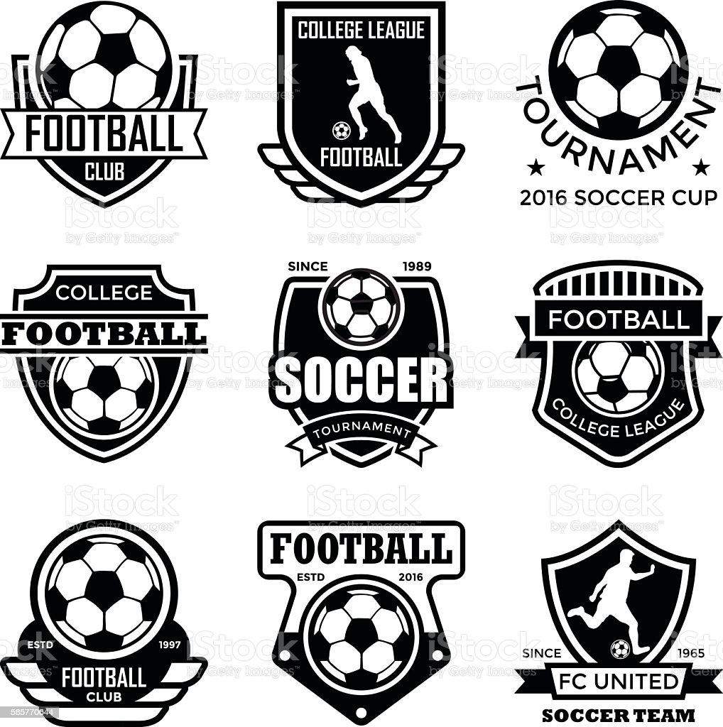 Football Badges vector art illustration