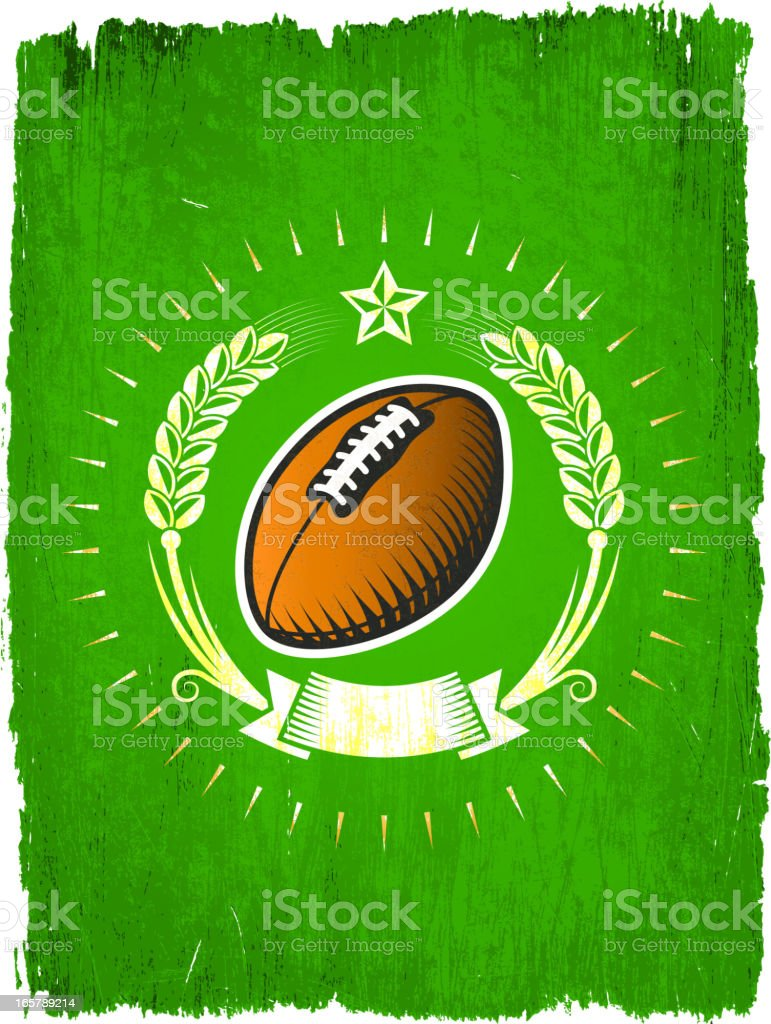 Football Ball on Grunge badges with banners royalty-free stock vector art