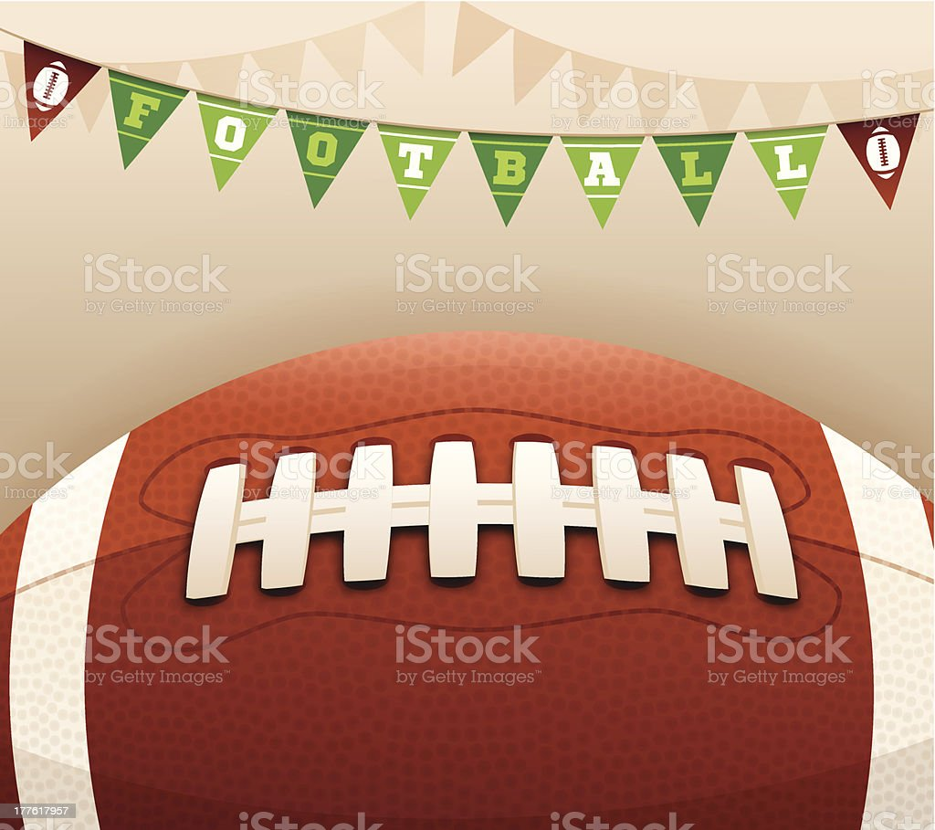 Football Banner Message royalty-free stock vector art