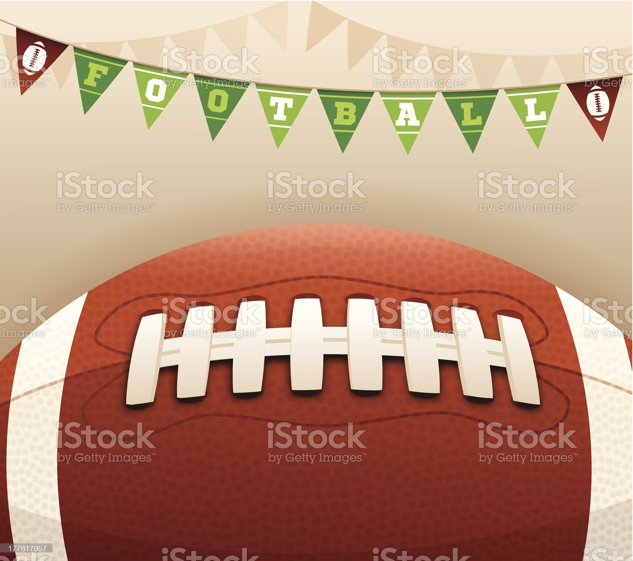 Football Banner Message royalty-free stock vector art