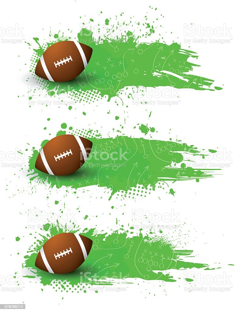 Football banners vector art illustration