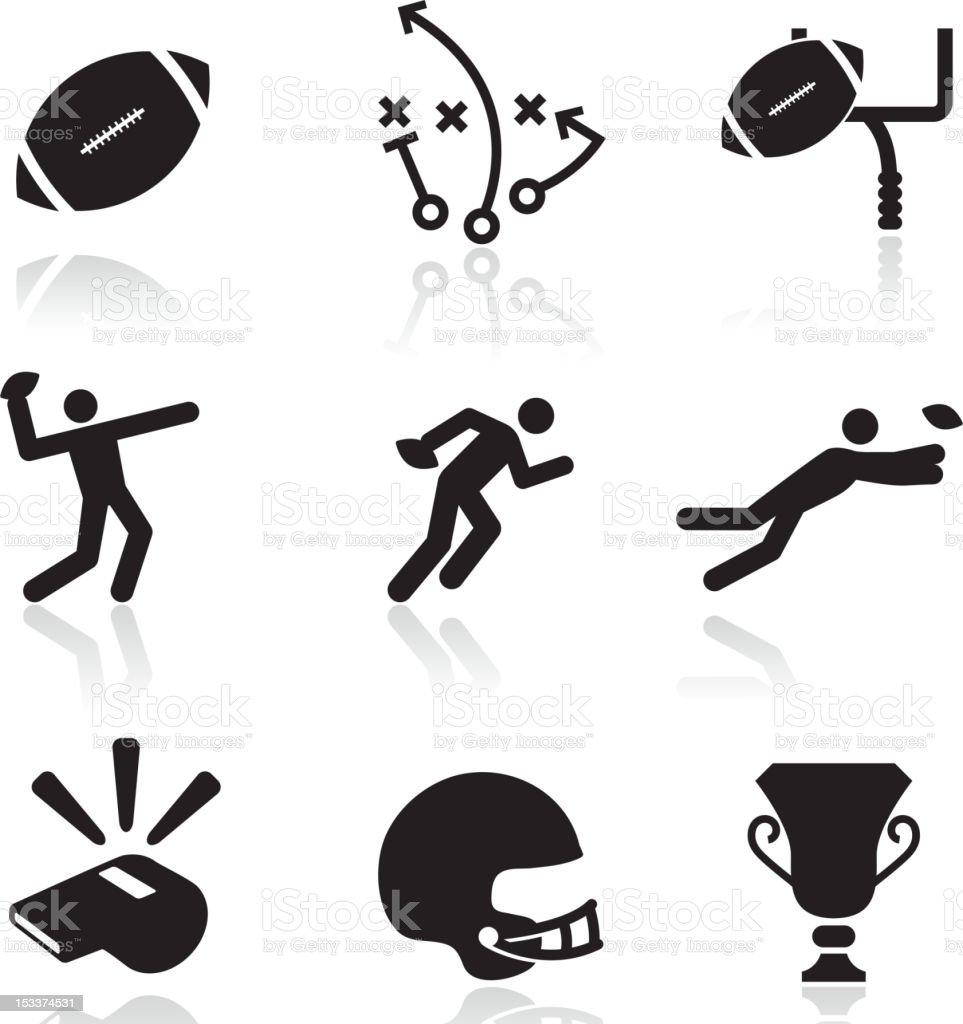 Football black and white royalty free vector arts vector art illustration