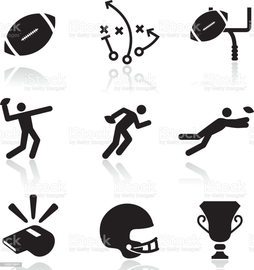 Football black and white royalty free vector arts vector art illustration