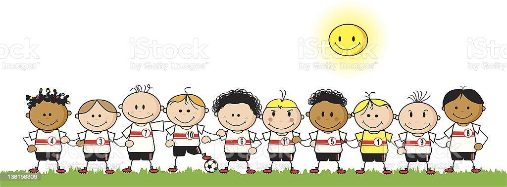Football Boys team royalty-free stock vector art