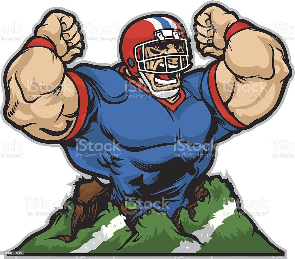 Football Brawler royalty-free stock vector art