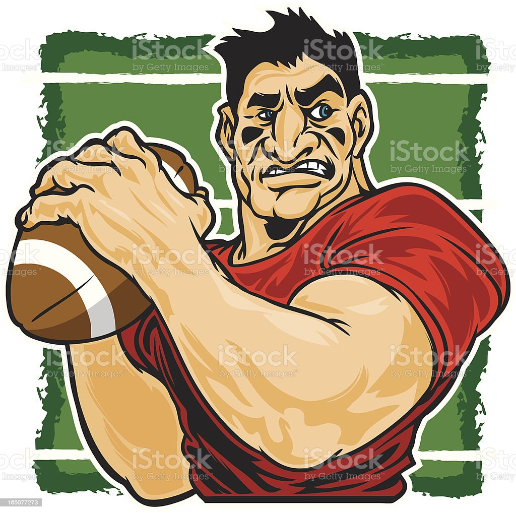 Football Brute royalty-free stock vector art