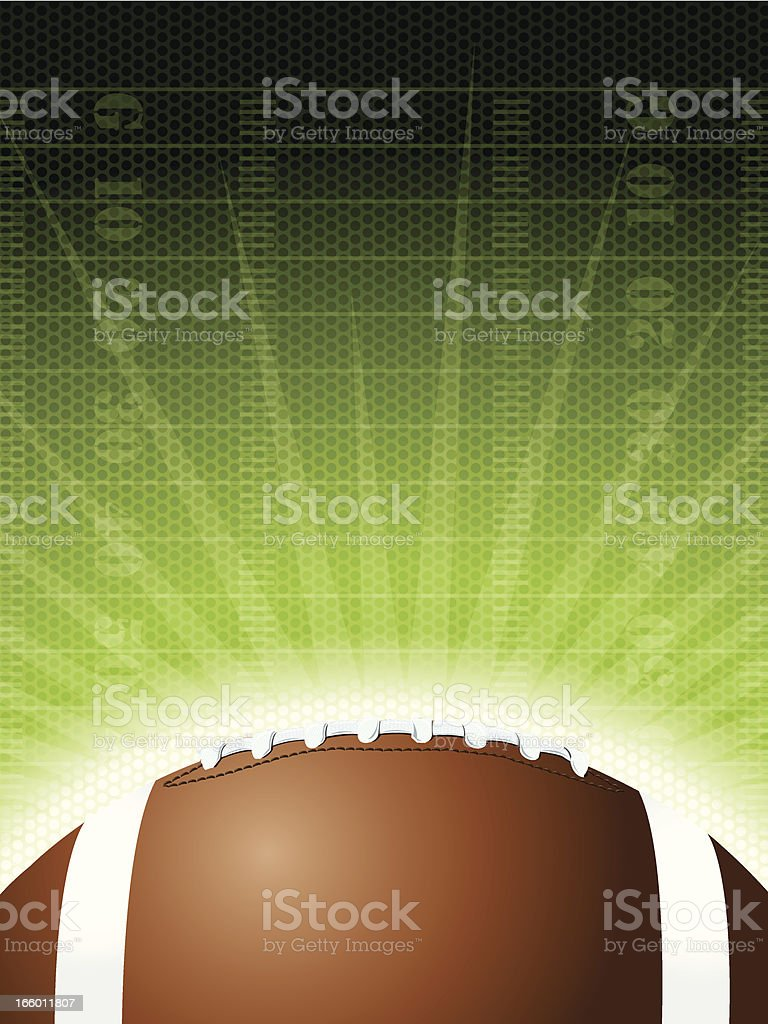 Football Burst Background Graphic vector art illustration
