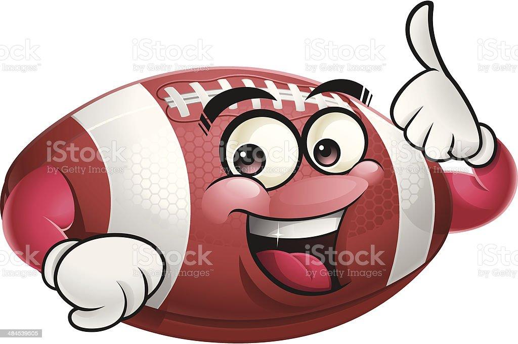 Football Cartoon - Thumbs Up royalty-free stock vector art