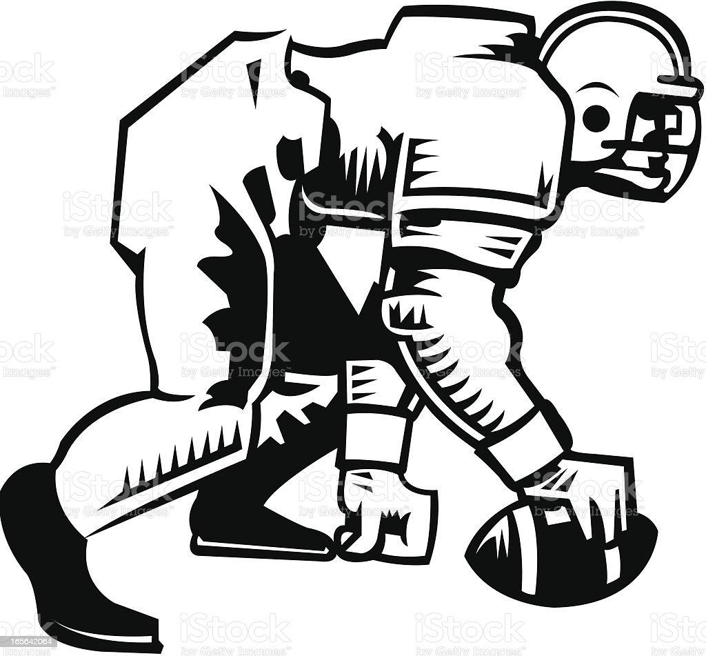 Football Center Hiking Ball royalty-free stock vector art