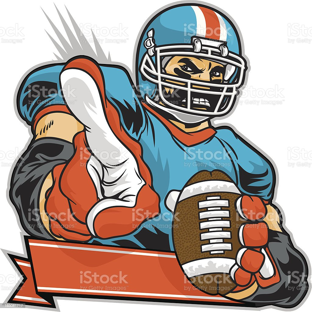 Football Champion Number One royalty-free stock vector art