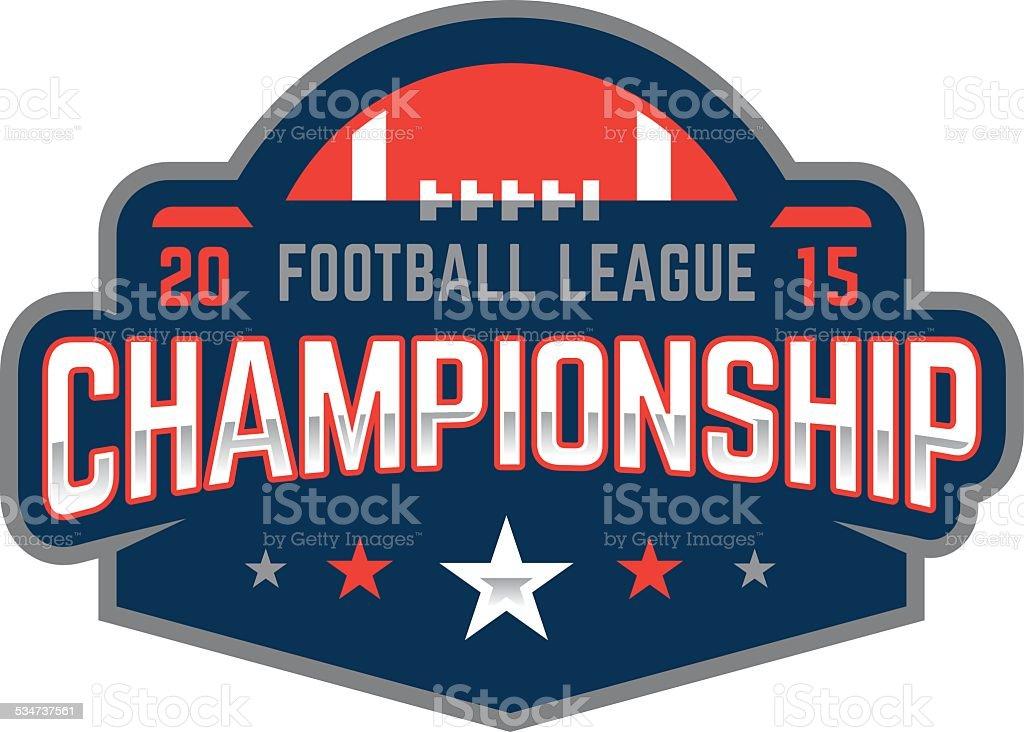 Football Championship Logo vector art illustration