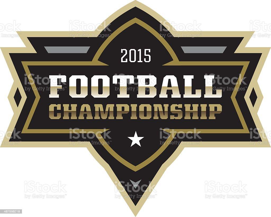Football Championship vector art illustration