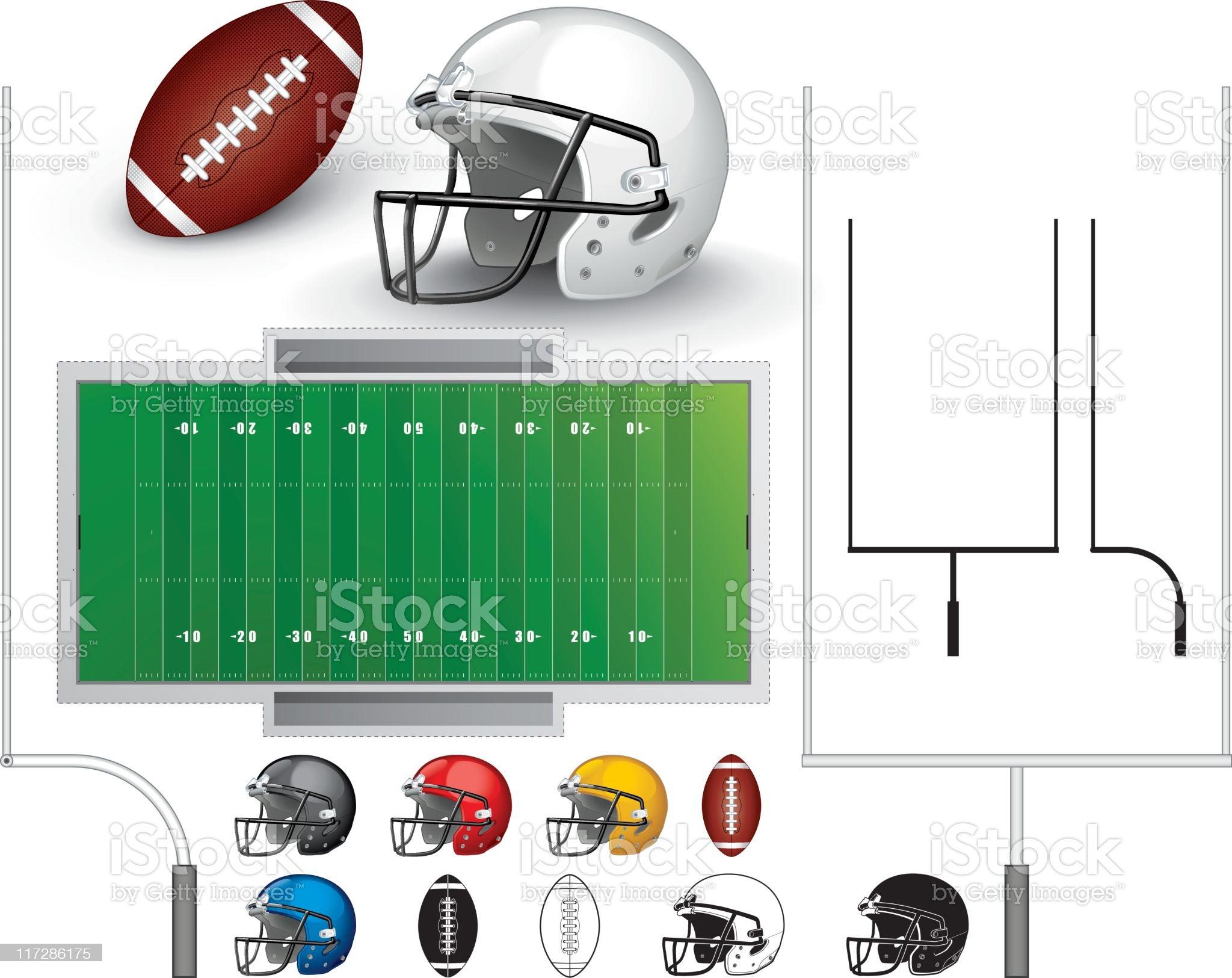 Football collection royalty-free stock vector art