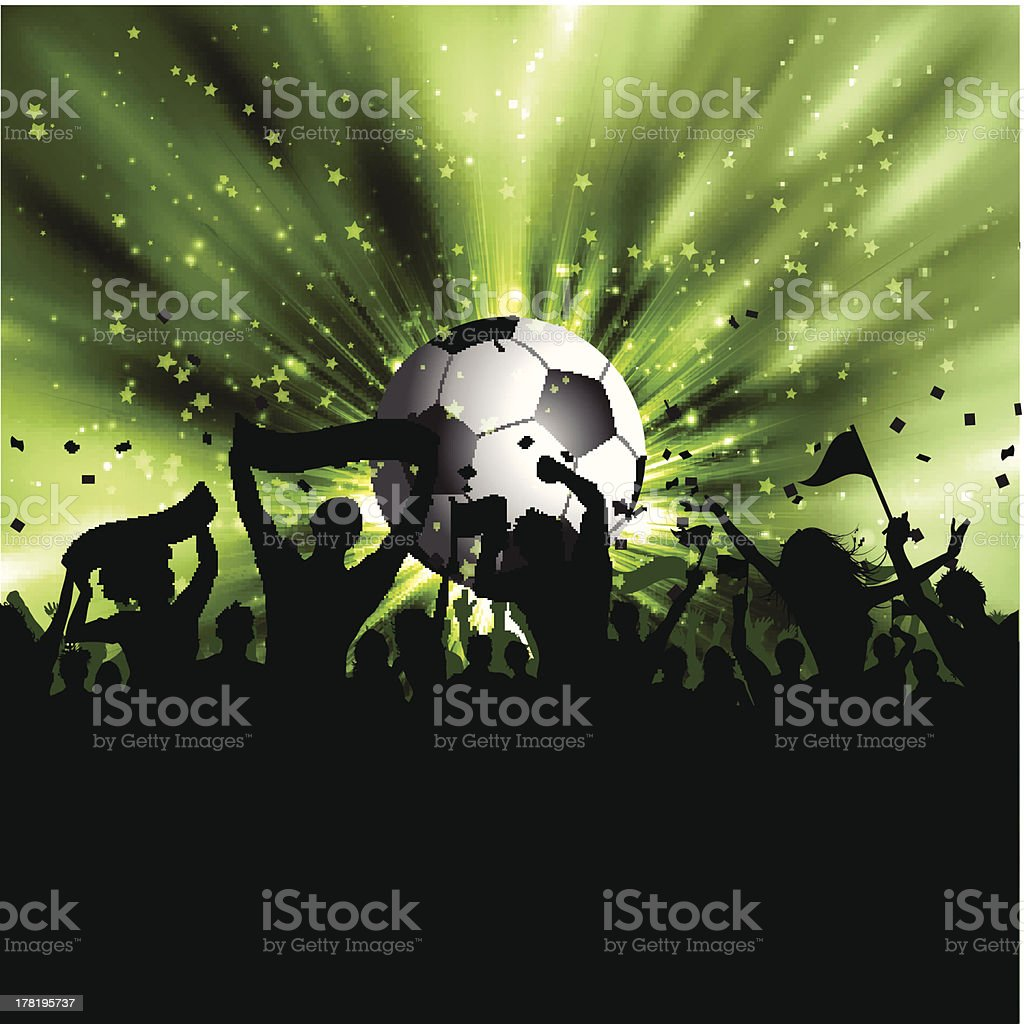 Football crowd royalty-free stock vector art