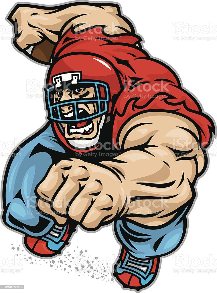 Football Crusher royalty-free stock vector art