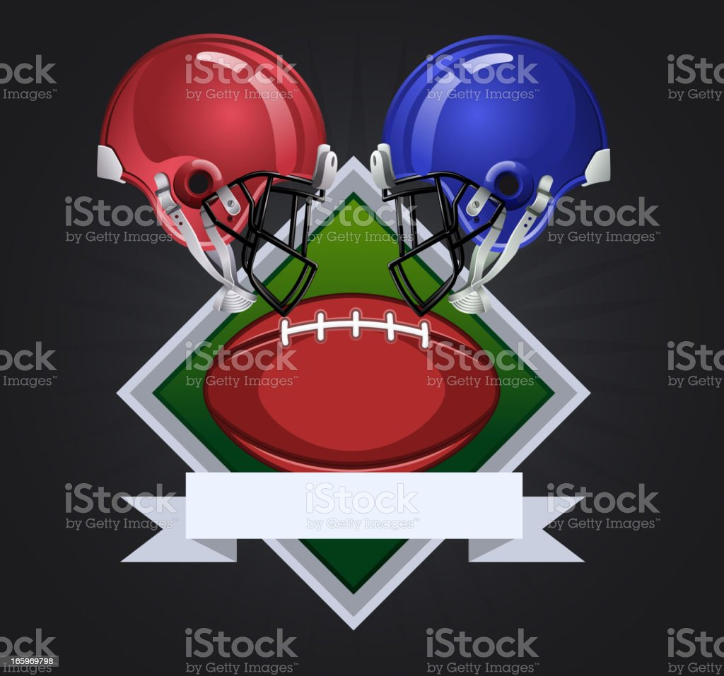 Football dark square royalty-free stock vector art