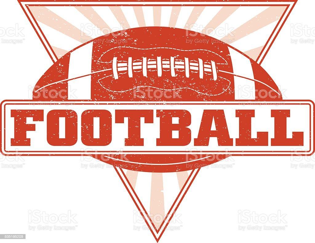 Football Design With Sunburst Triangle vector art illustration