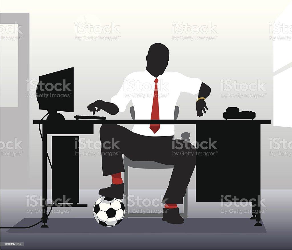 Football desk vector art illustration