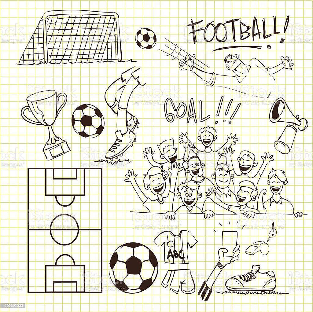 Football Doodle royalty-free stock vector art