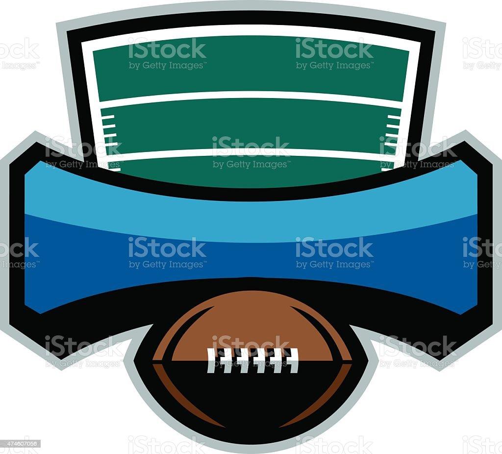 Football Emblem vector art illustration