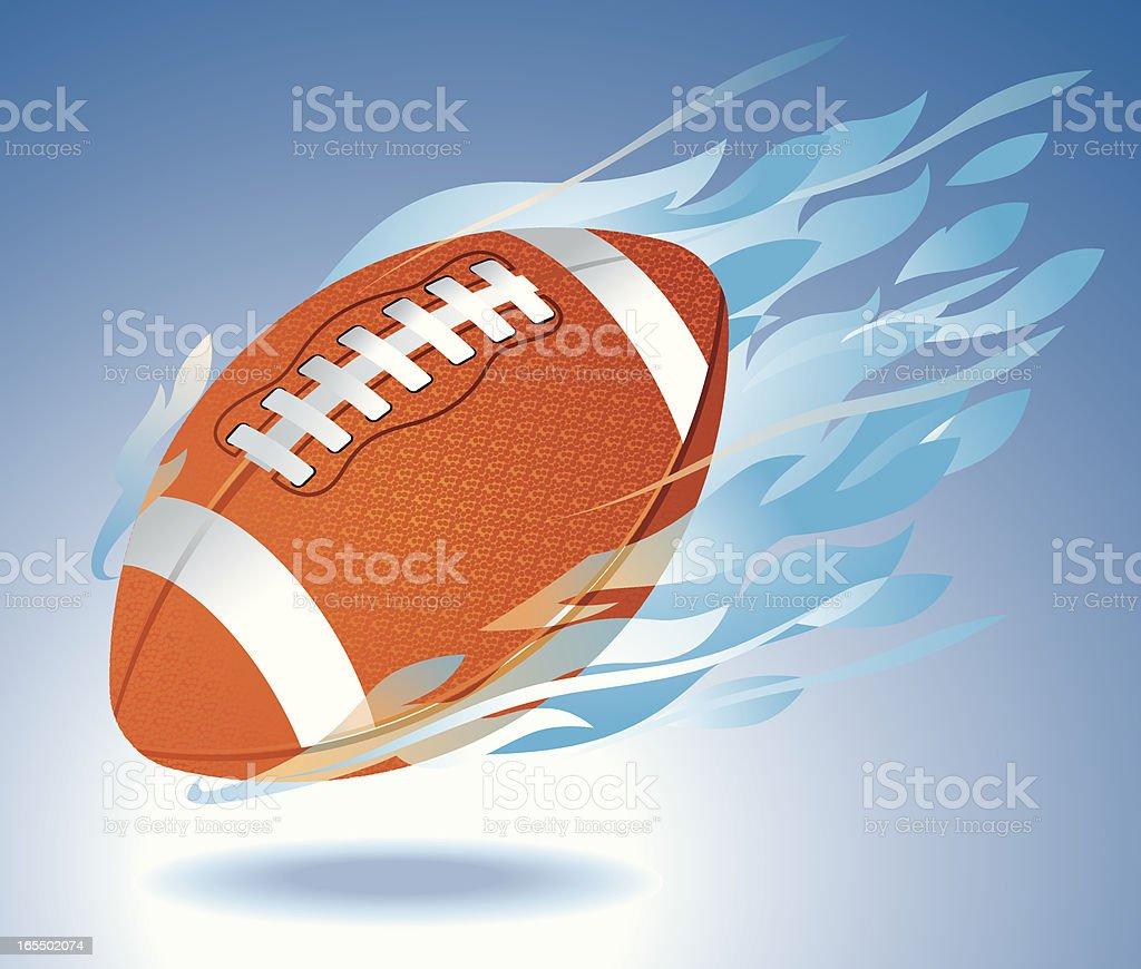 Football Engulfed in Fire Vector vector art illustration