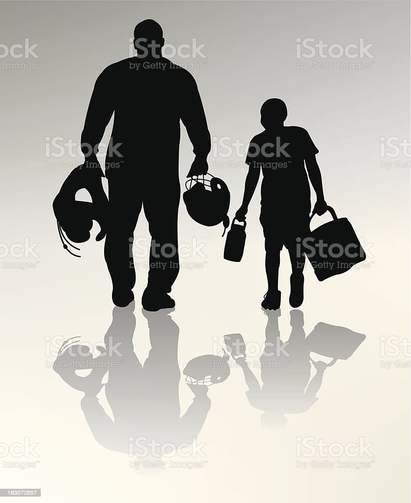 Football Father and Son royalty-free stock vector art