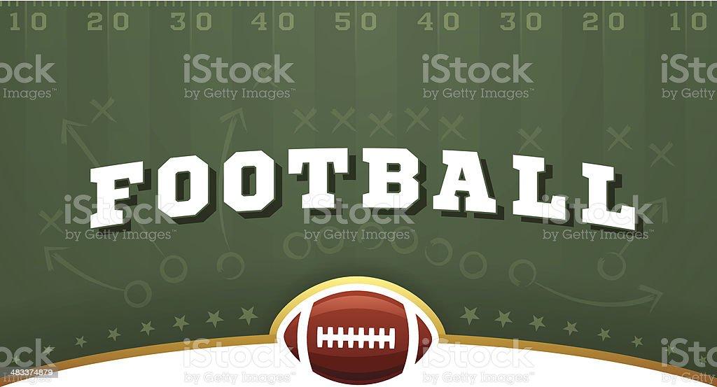 Football Field Background vector art illustration