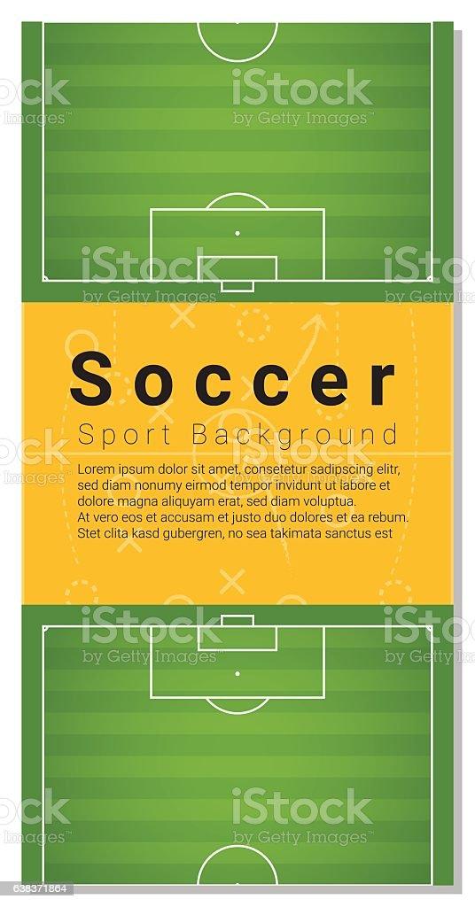 Football field graphic background 1 vector art illustration