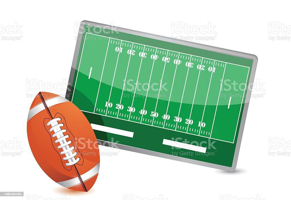 Football field tactic table, Football balls vector art illustration