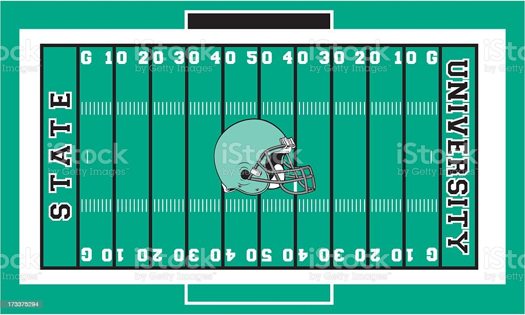 Football Field royalty-free stock vector art