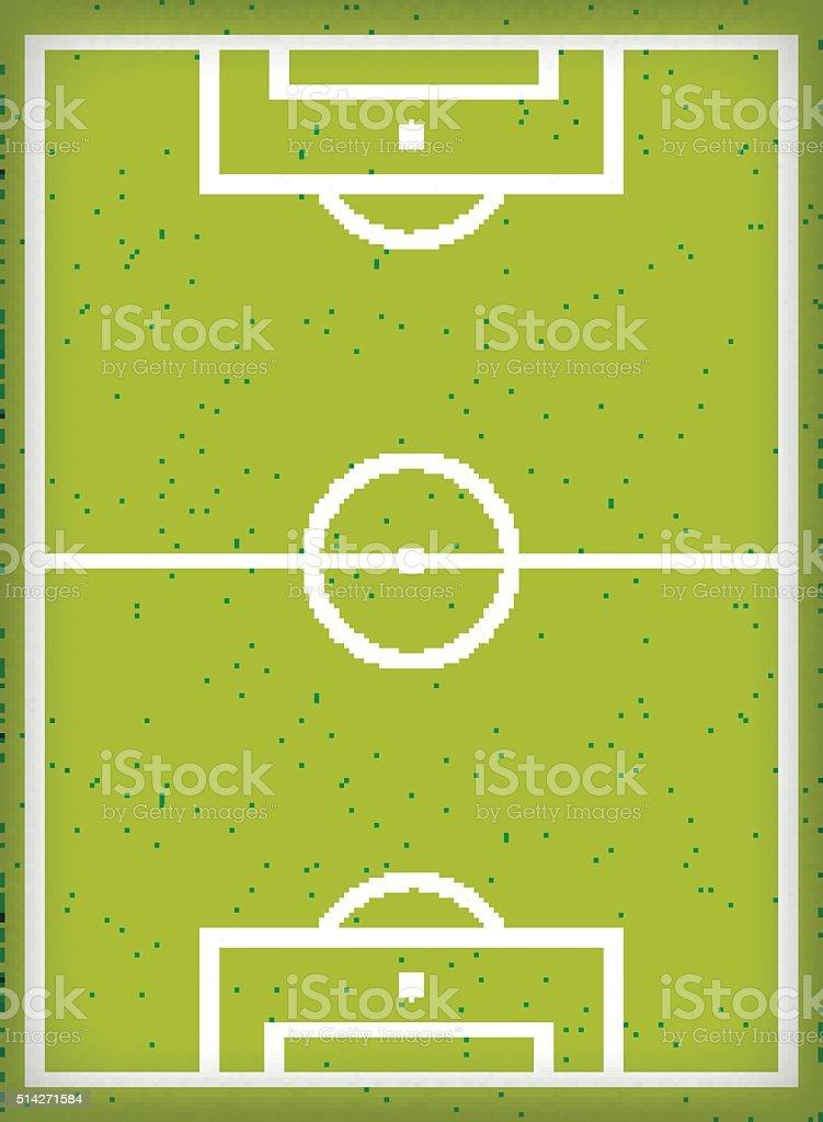 Football field. Vector illustration. vector art illustration