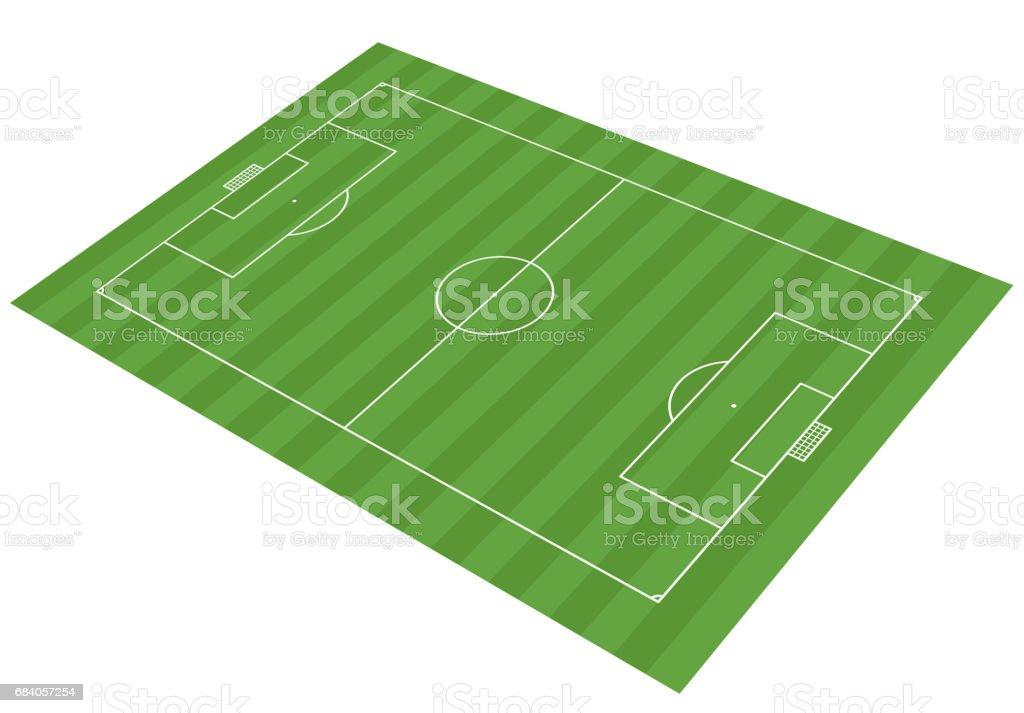 football field - vector illustration vector art illustration