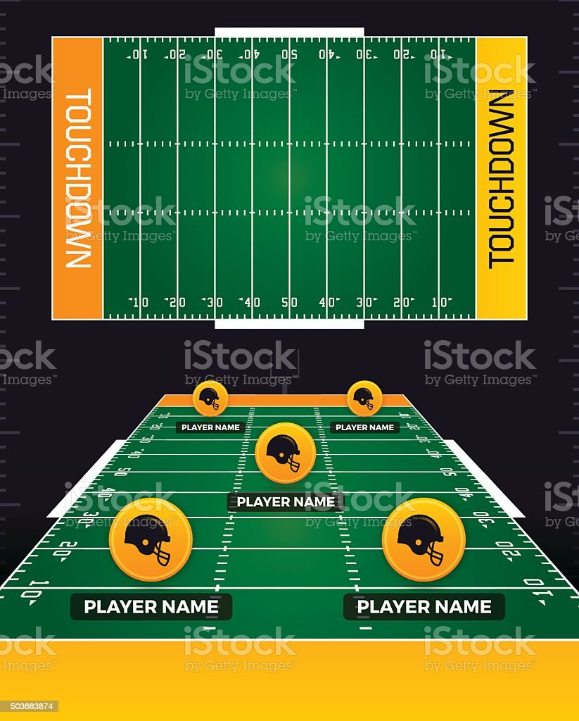 Football Fields vector art illustration
