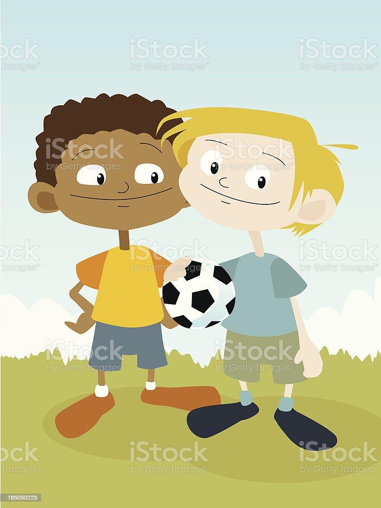 Football Friends royalty-free stock vector art