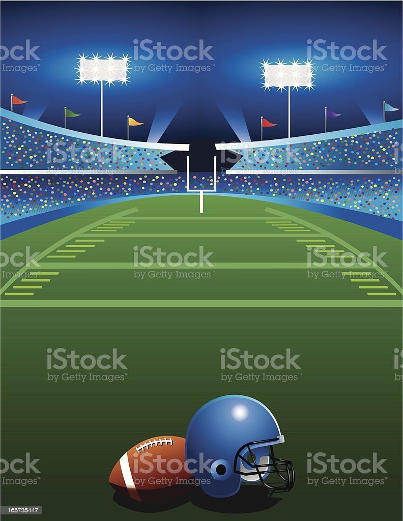 Football Game at Night royalty-free stock vector art
