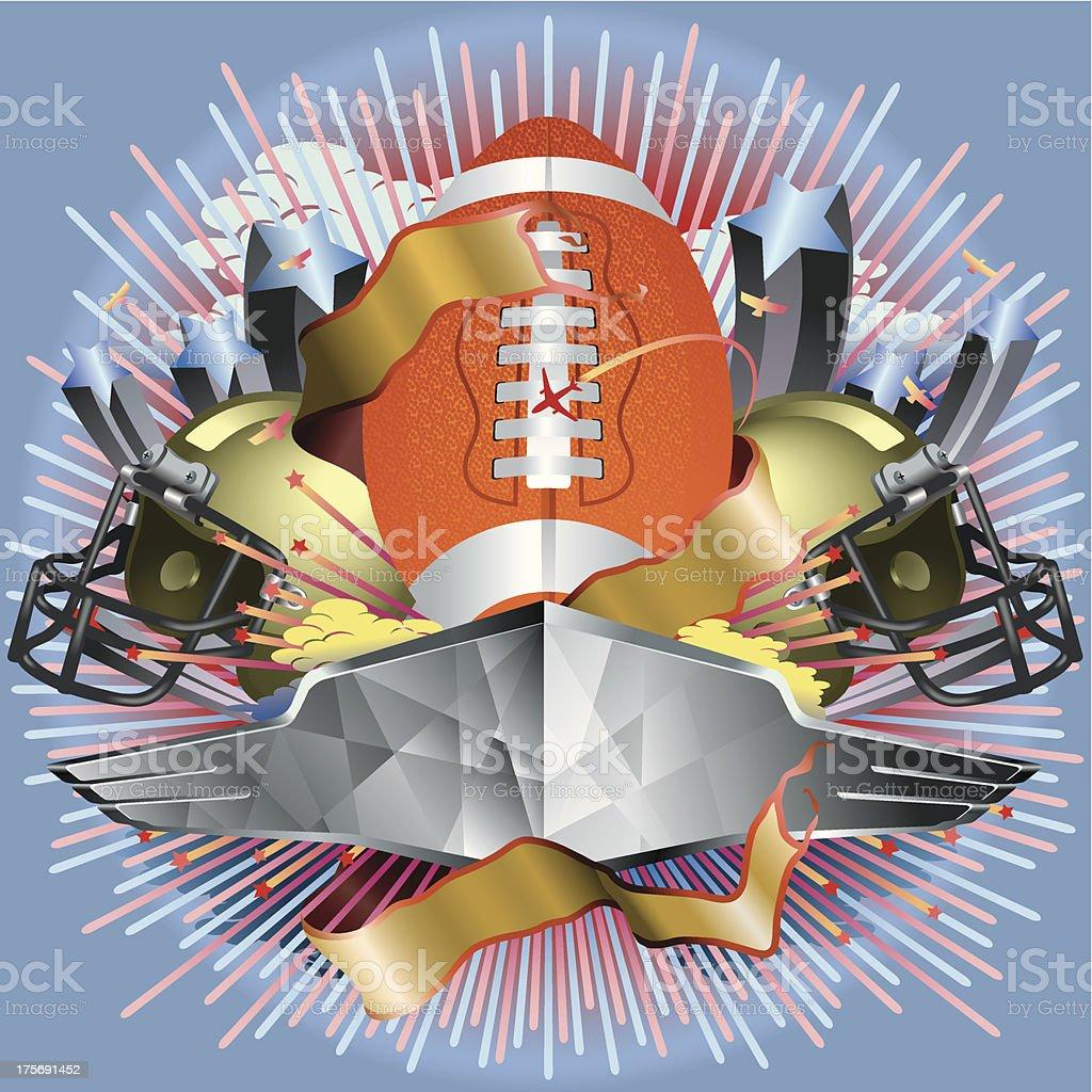 Football Game Entertainment Vector vector art illustration