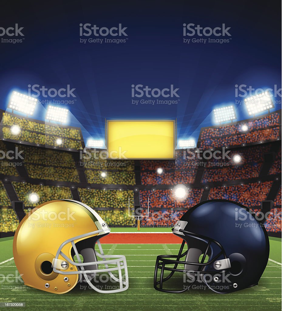 Football Game royalty-free stock vector art