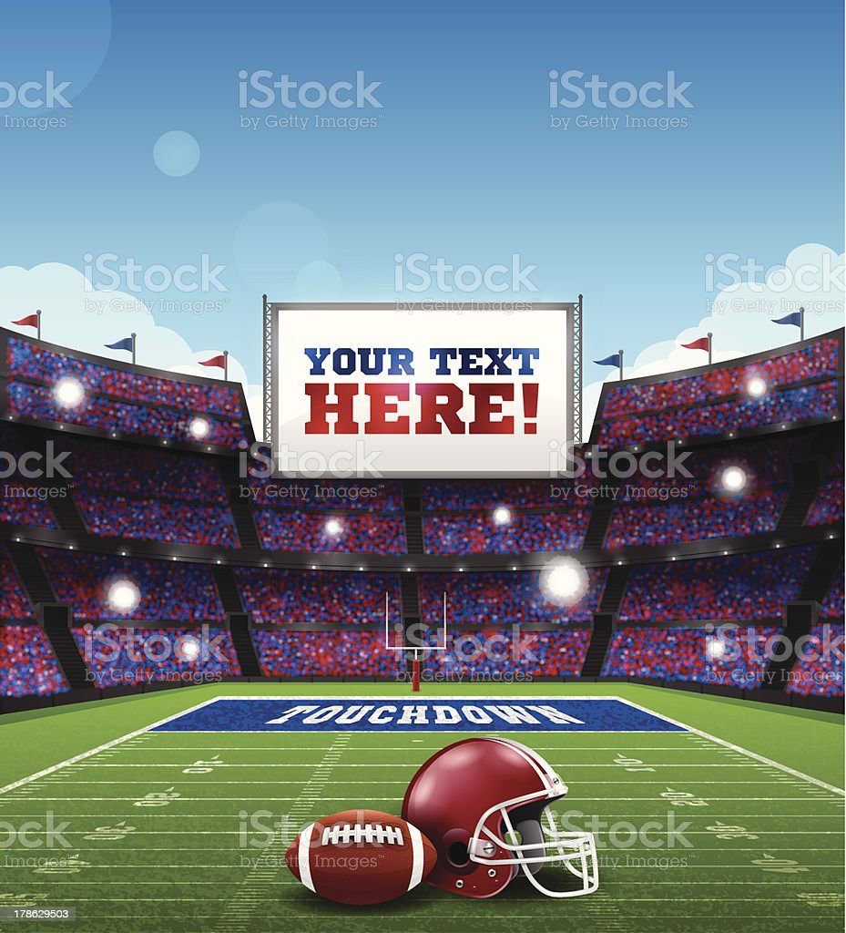 Football Game vector art illustration