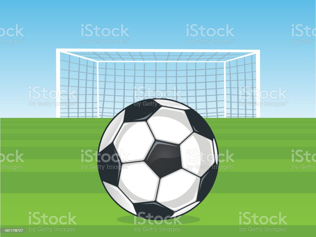 Football Goal field vector art illustration