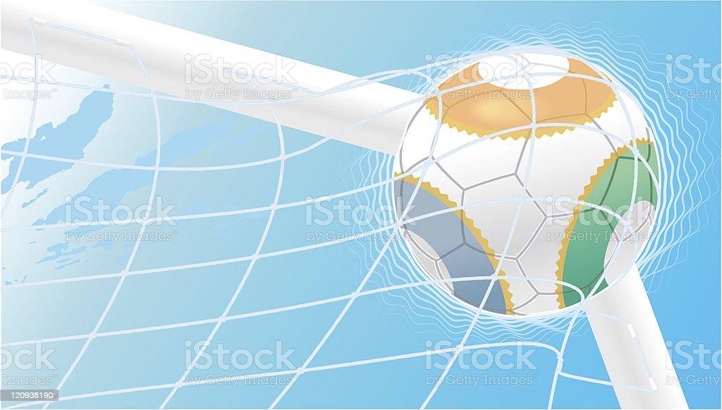 football goal royalty-free stock vector art