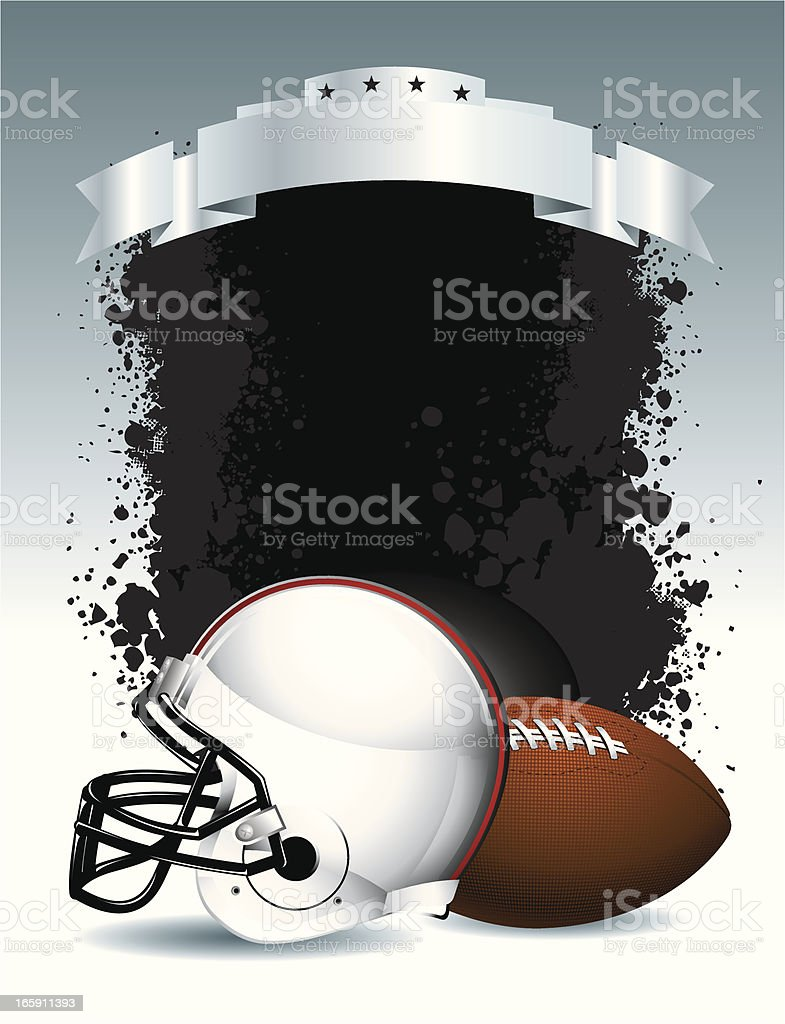 Football Helmet and Ball royalty-free stock vector art