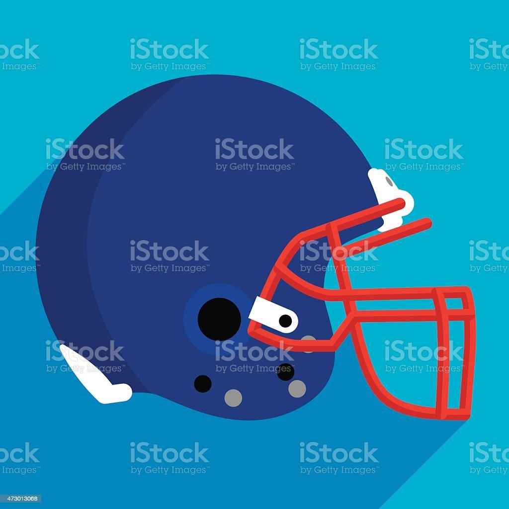 Football Helmet Flat vector art illustration