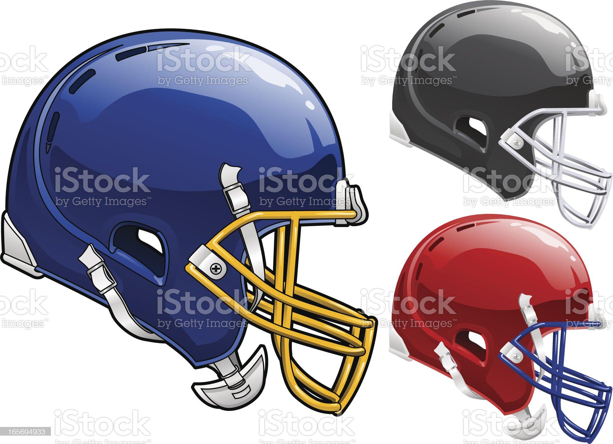 Football Helmet Side royalty-free stock vector art