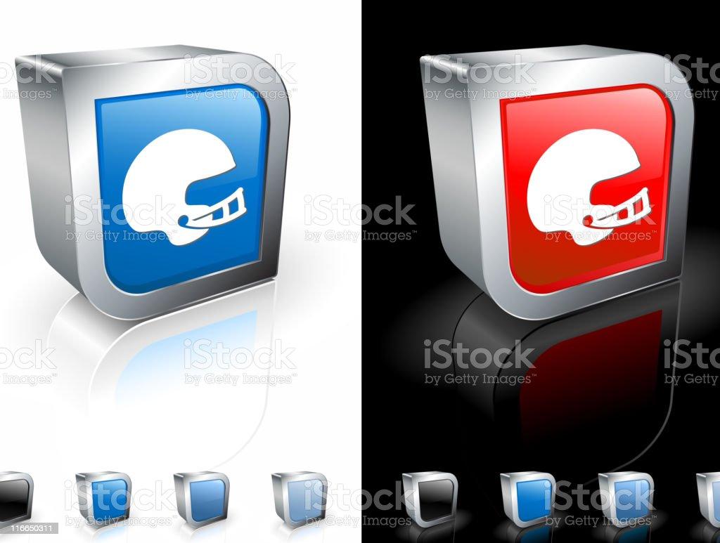 football helmet  square icon vector art illustration