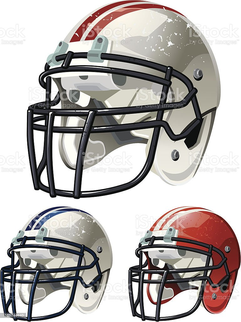 Football Helmet royalty-free stock vector art