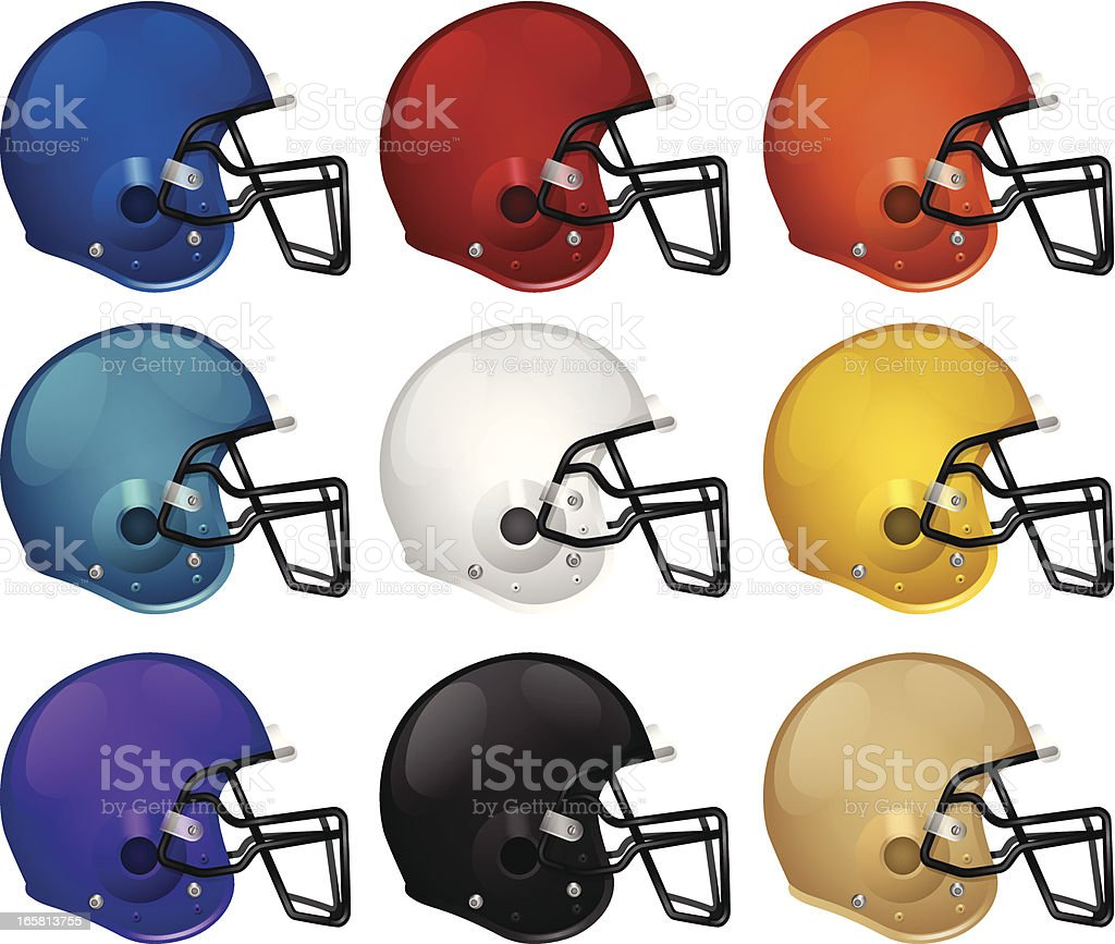 Football Helmets royalty-free stock vector art