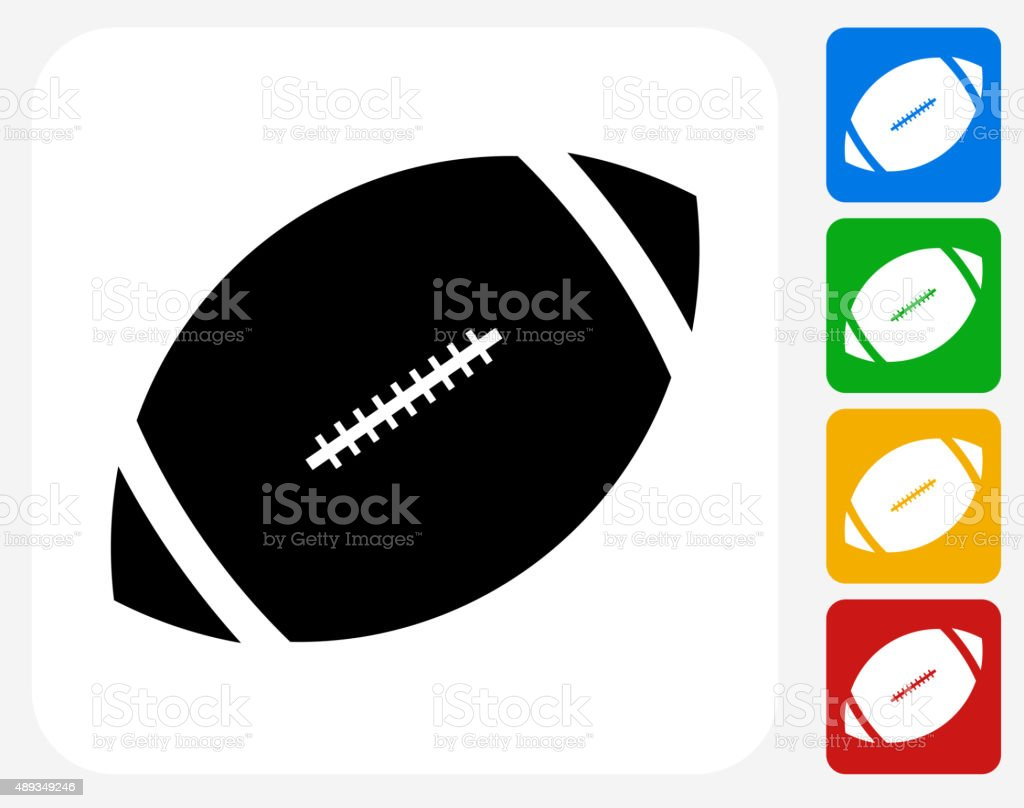 Football Icon Flat Graphic Design vector art illustration