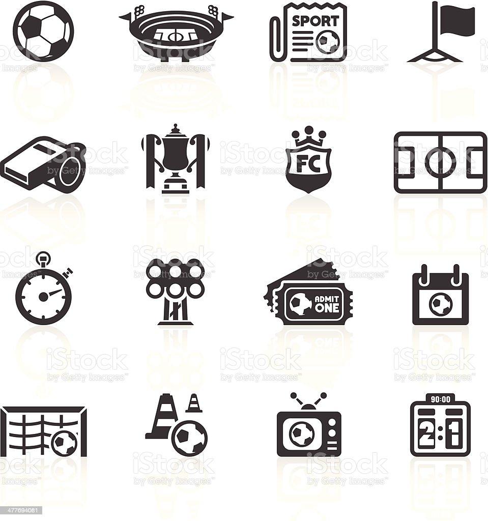 Football Icons Set 1 vector art illustration