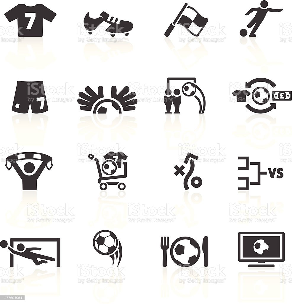 Football Icons Set 2 royalty-free stock vector art