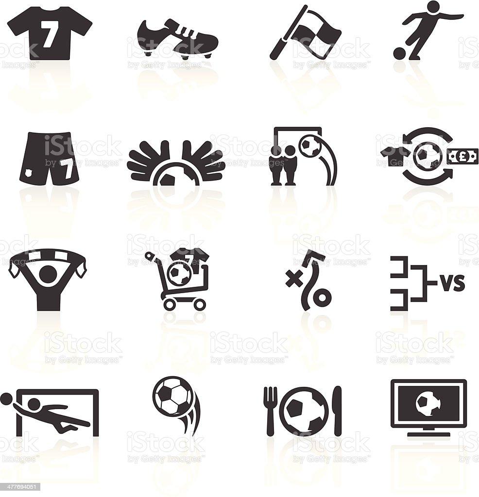 Football Icons Set 2 vector art illustration